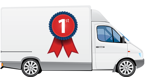 Clipart of a van with Bridgedales Nutrition rosette on